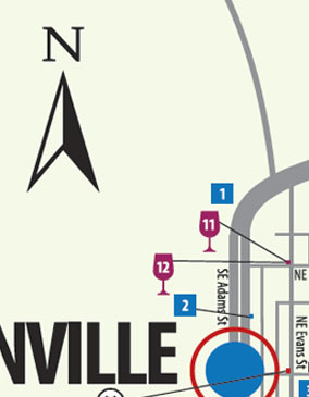 a preview of the map of Lafayette and McMinnville