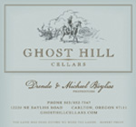 advertisement for Ghost Hill Cellars