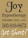 advertisement for Joy Hypnotherapy
