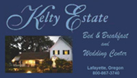 advertisement for Kelty Estate