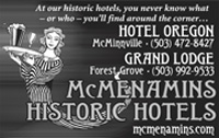 advertisement for McMenamins