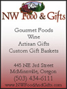 advertisement for NW Food and Gifts
